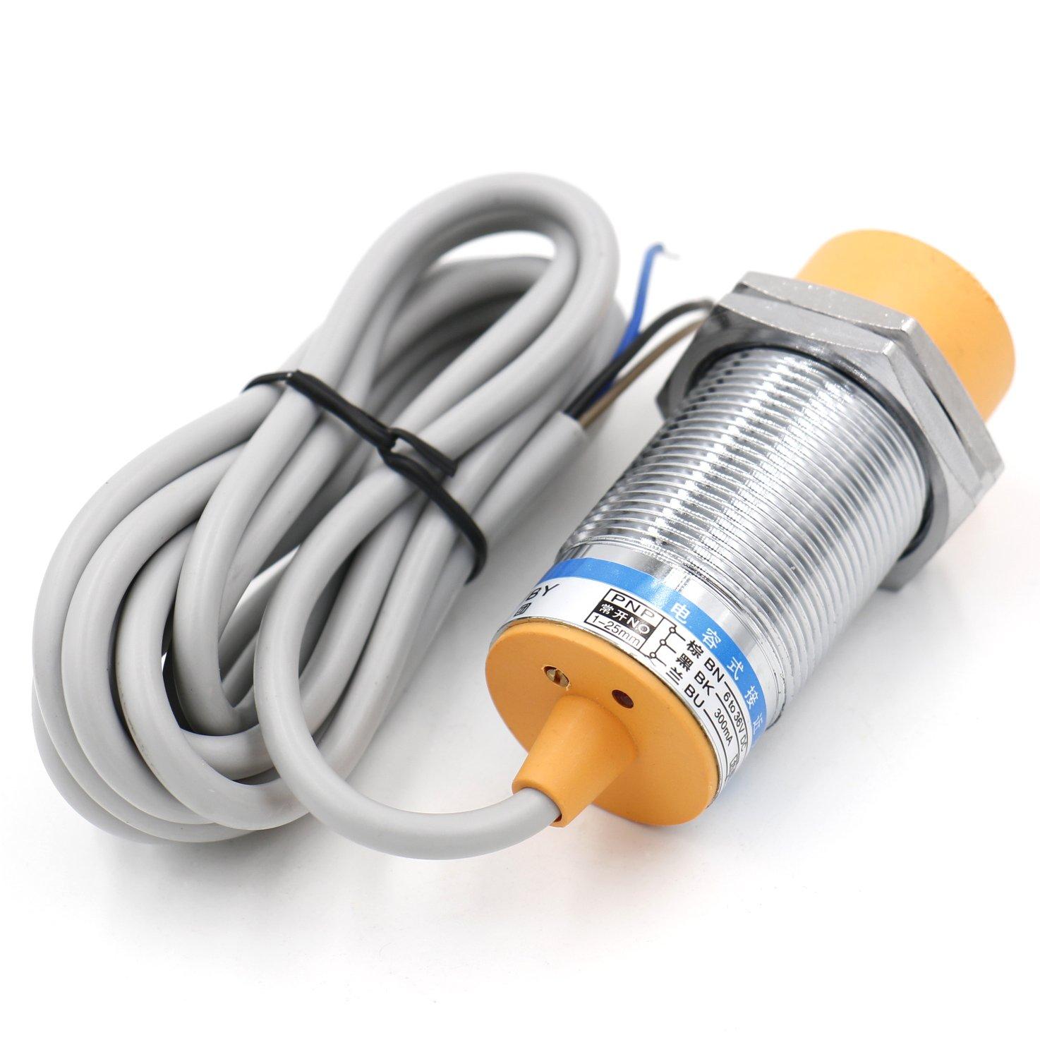 heschen capacitiva Sensor de proximidad Interruptor ljc30 a3-h-z/por detector 1 - 25 mm 6 - 36 VDC 300 mA PNP NO Normalmente Abierto (alambre de) 3: ...
