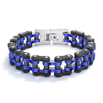 c67ae0a3915f7 Fate Love Mens Biker Bracelet Stainless Steel Motorcycle Bike Chain ...