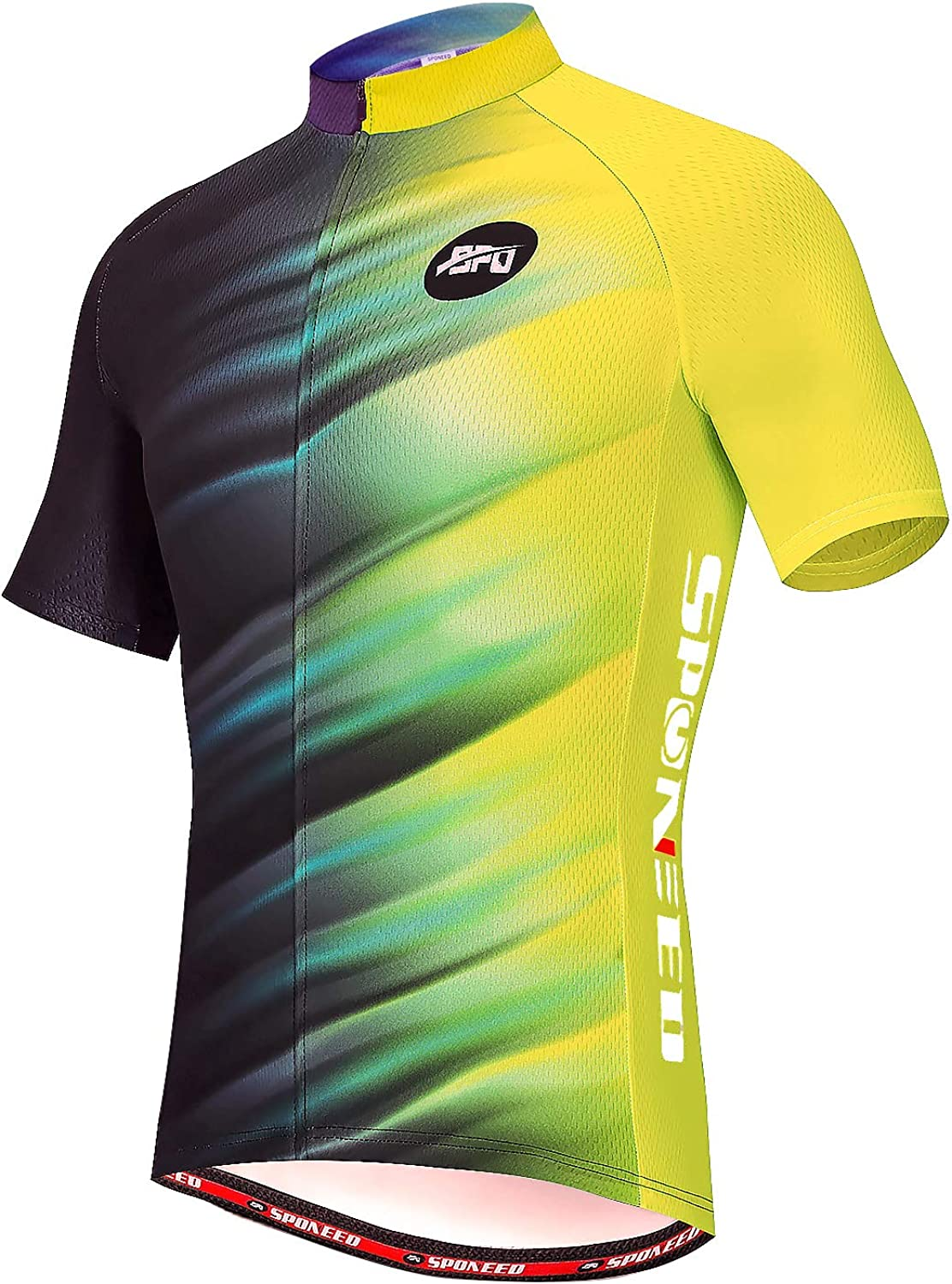 Breathable Spandex Long Sleeve Cycling Jersey Men Full Zipper Bicycle Clothing