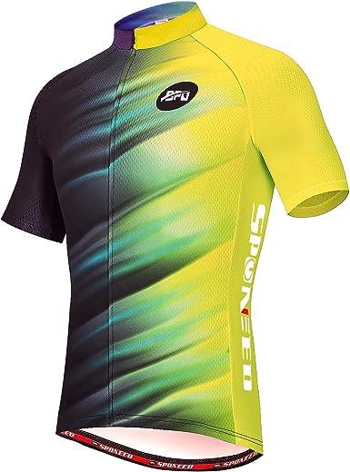 Mens Cycling Jersey MTB Road Bike Tops Long Sleeve Sport Quick Dry Shirt Gifts