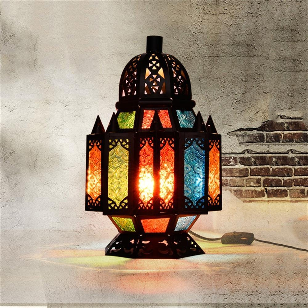 DIDIDD Ideal reading light-- turkey southeast asia thai creative retro art table lamp living room study decorative headboard table lamp --desk and bedside lighting