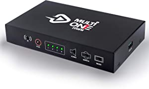 UCEC MultiOne Mini 4 HDMI Inputs Quad Channel Video Camera Capture Card Multiview Cam Link Pro Broadcast Live Record via DSLRs, Camcorder, Action Cam,1080P60 USB3.0 for Streaming Conferencing OBS Zoom