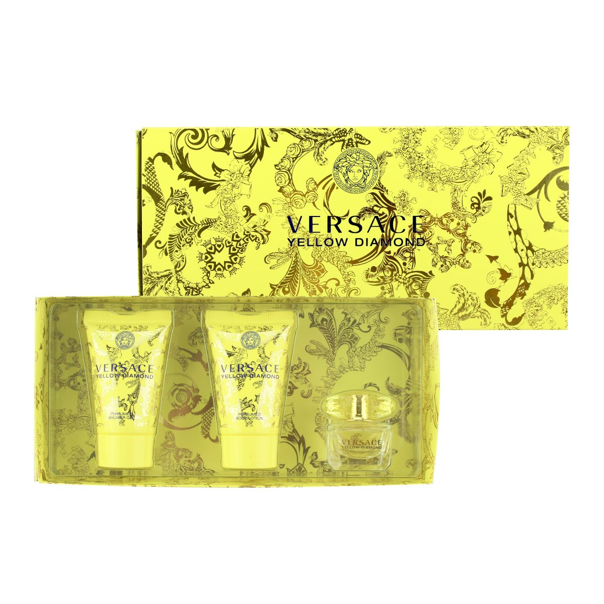 Amazon.com : Versace Yellow Diamond 3 Piece Mini Gift Set ...
