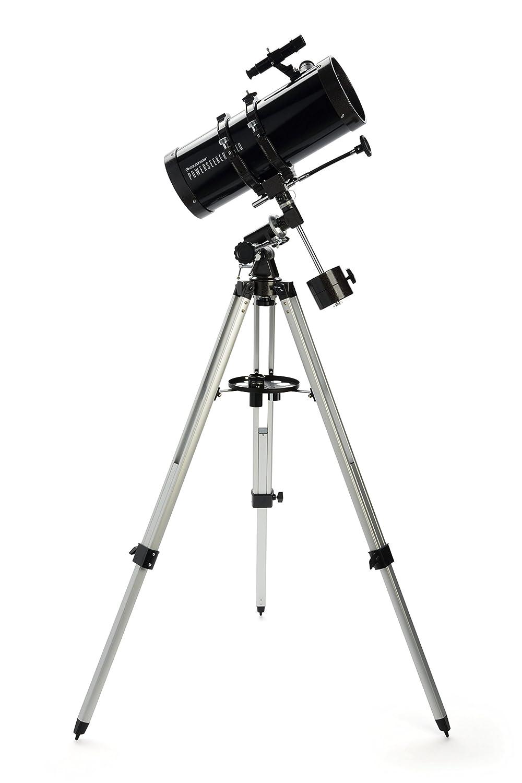 Komplettset inkl Montierung Celestron PowerSeeker 127 EQ Teleskop f/ür Einsteiger // 127mm Spiegeldurchmesser Aluminiumstativ 2 Okularen 3x Barlowlinse und Sucher 5x24 1000mm Brennweite