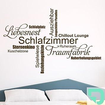 DESIGNSCAPE® Wandtattoo Schlafzimmer Wortwolke 160 x 108 cm (Breite x Höhe)  mint DW803298-L-F36