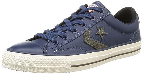 Converse SP Fundam Leath - Zapatillas Bajas Unisex, Color Gris (Gris/Noir), Talla 40