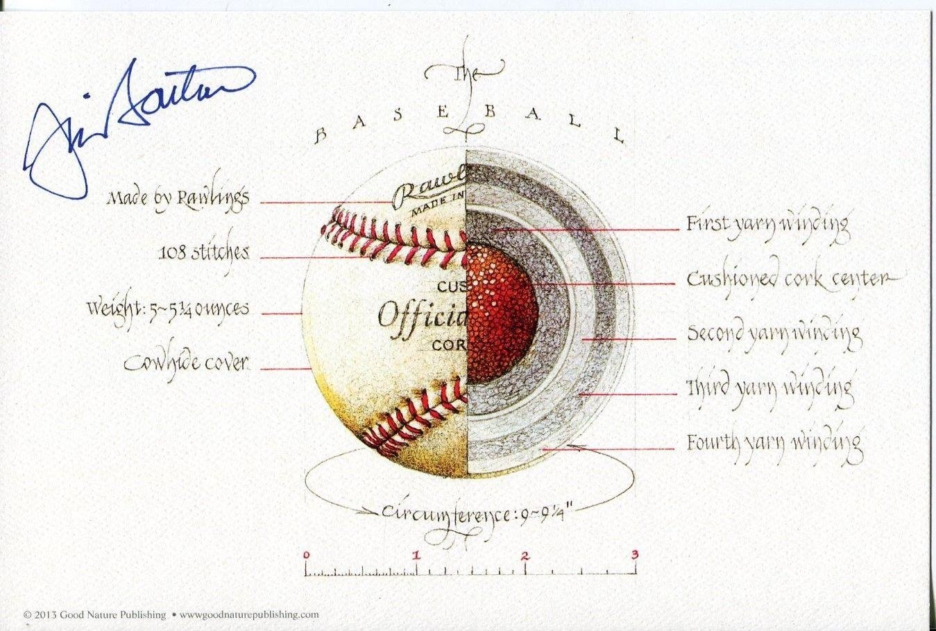 Jim Bouton New York Yankees Seattle Pilots Signed Autograph Knuckleball Print - Autographed MLB Art Autographed Cards