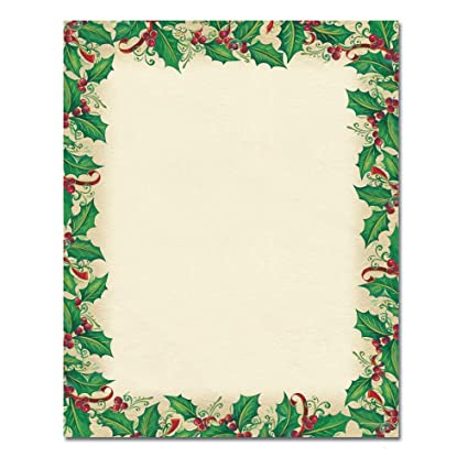 amazon com christmas stationery dancing holly holiday laser and