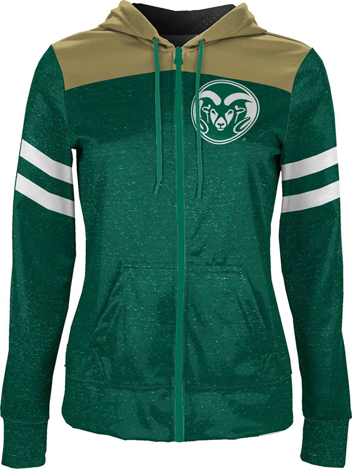 School Spirit Sweatshirt Game Time Colorado State University Girls Zipper Hoodie