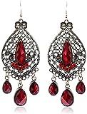 Eternity J. Classy Charm Rhinestone Ethnic Earrings Antique Vintage Victorian Tear Drop Earing