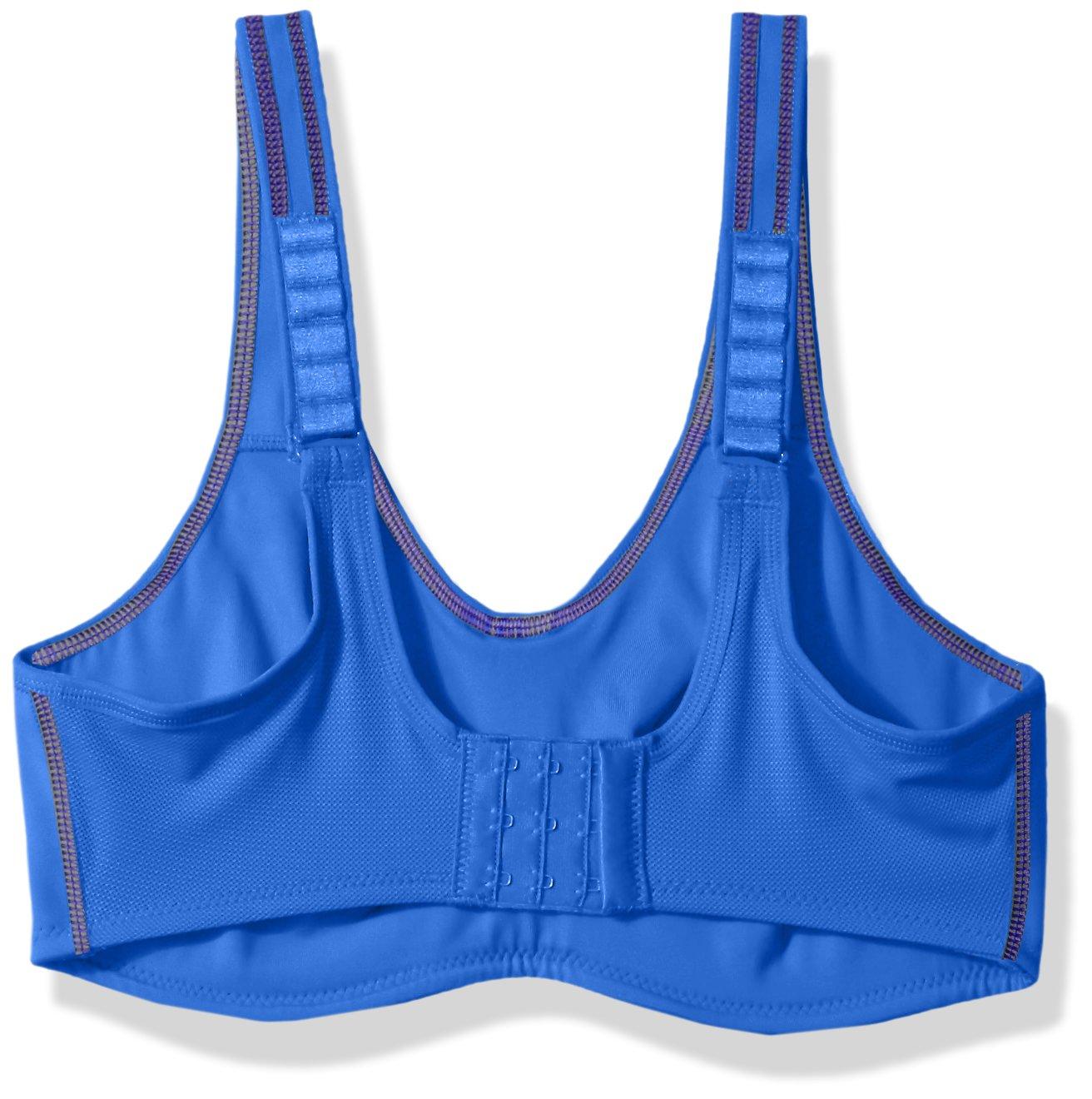 Wacoal Women's Sport Underwire Bra, Dazzling Blue/Grey by Wacoal (Image #2)