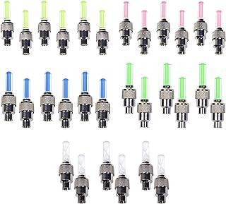 Stonges - Bouchons de valve de pneu à LED clignotants pour voiture, vélo, mobylette et moto (rouge, jaune, bleu, vert et variable), Blue/Green/Red/Yellow vélo