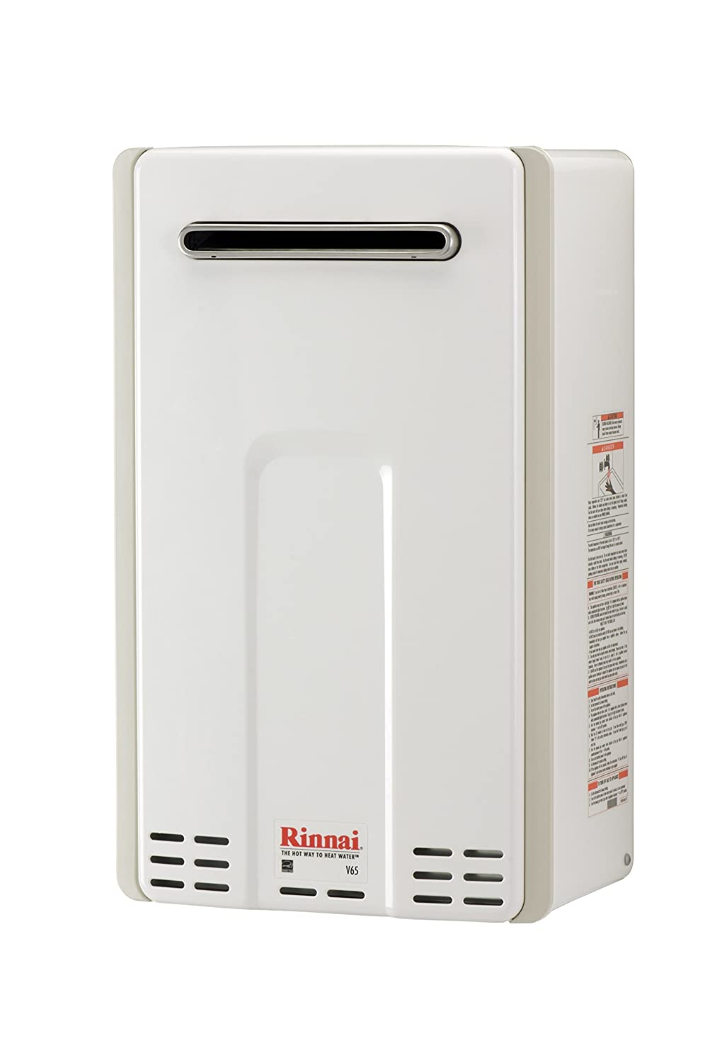 Rinnai V65EP 6.6 GPM Outdoor Low NOx Tankless Propane Water Heater - -  Amazon.com
