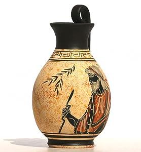 grec Black-figure Pot de vase en céramique poterie Peinture King Dieu Zeus 6.3& # X384; & # X384;