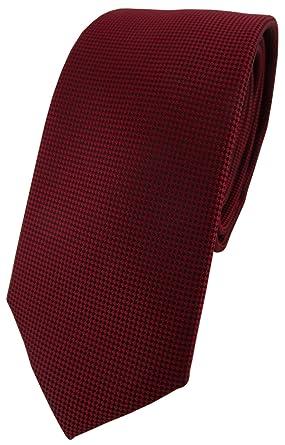 TigerTie - corbata estrecha - púrpura burdeos lunares: Amazon.es ...