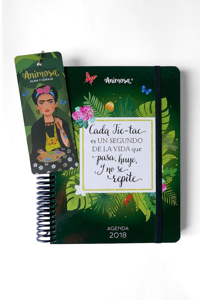 Agenda 2018, inspirada en Frida: Amazon.es: Oficina y papelería