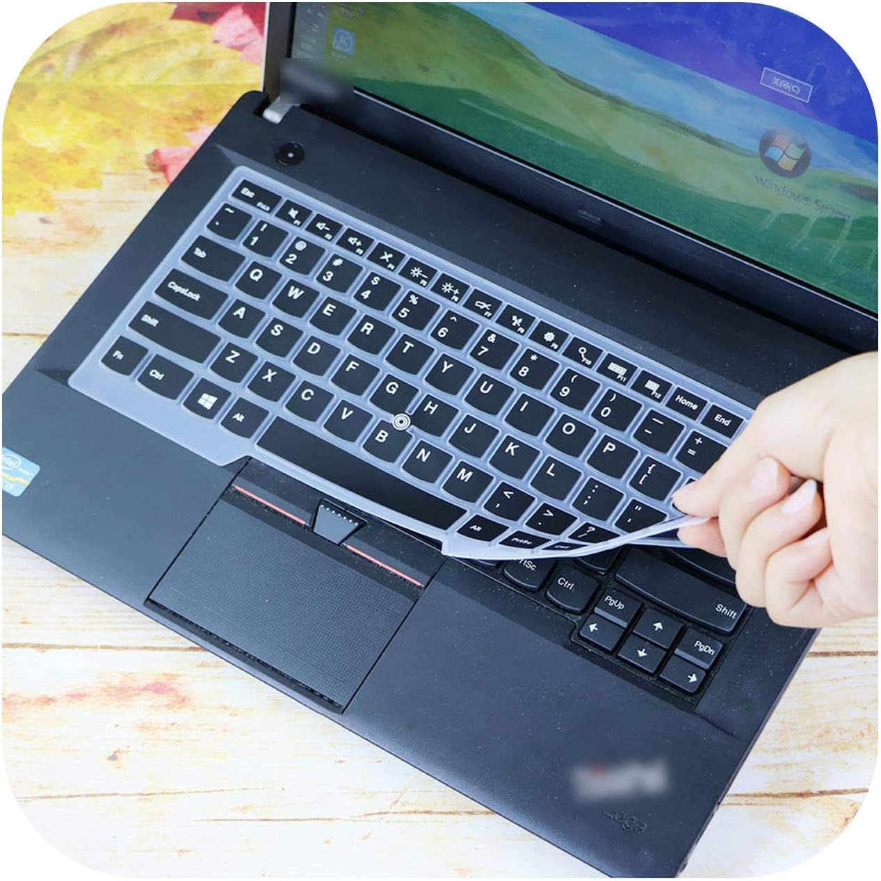 Candyblack 14 Inch Laptop Keyboard Cover Protector for Lenovo Thinkpad E480 E485 E475 E490 L380 L390 L440 L450 L460 L470 L480 L490 A475