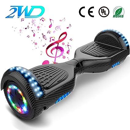 2WD Hoverboard T580 Scooter eléctrico Patinetes eléctricos Self-Balanced Scooter 6.5 Pulgadas Scooter eléctrico UL Certificado con Altavoz Bluetooth ...