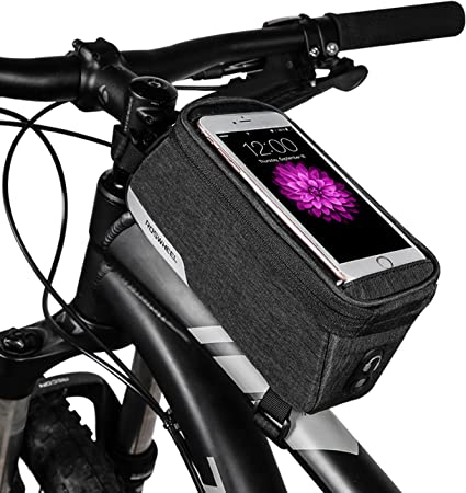 Outdoor Sport Phone Case Touch Screen  Bike Bicycle Frame Front Handlebar Bag