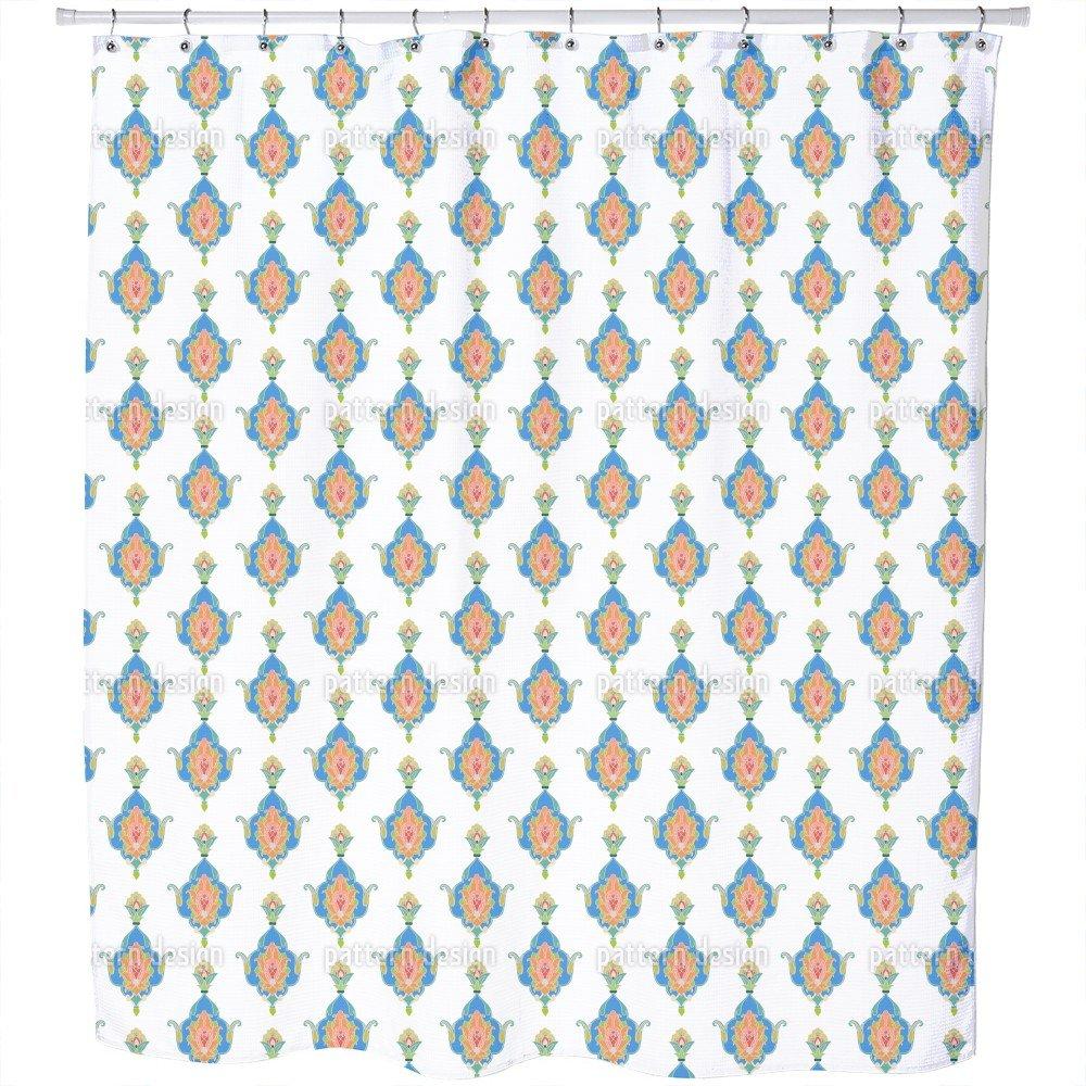 Uneekee Oriental Splendor Shower Curtain: Large Waterproof Luxurious Bathroom Design Woven Fabric
