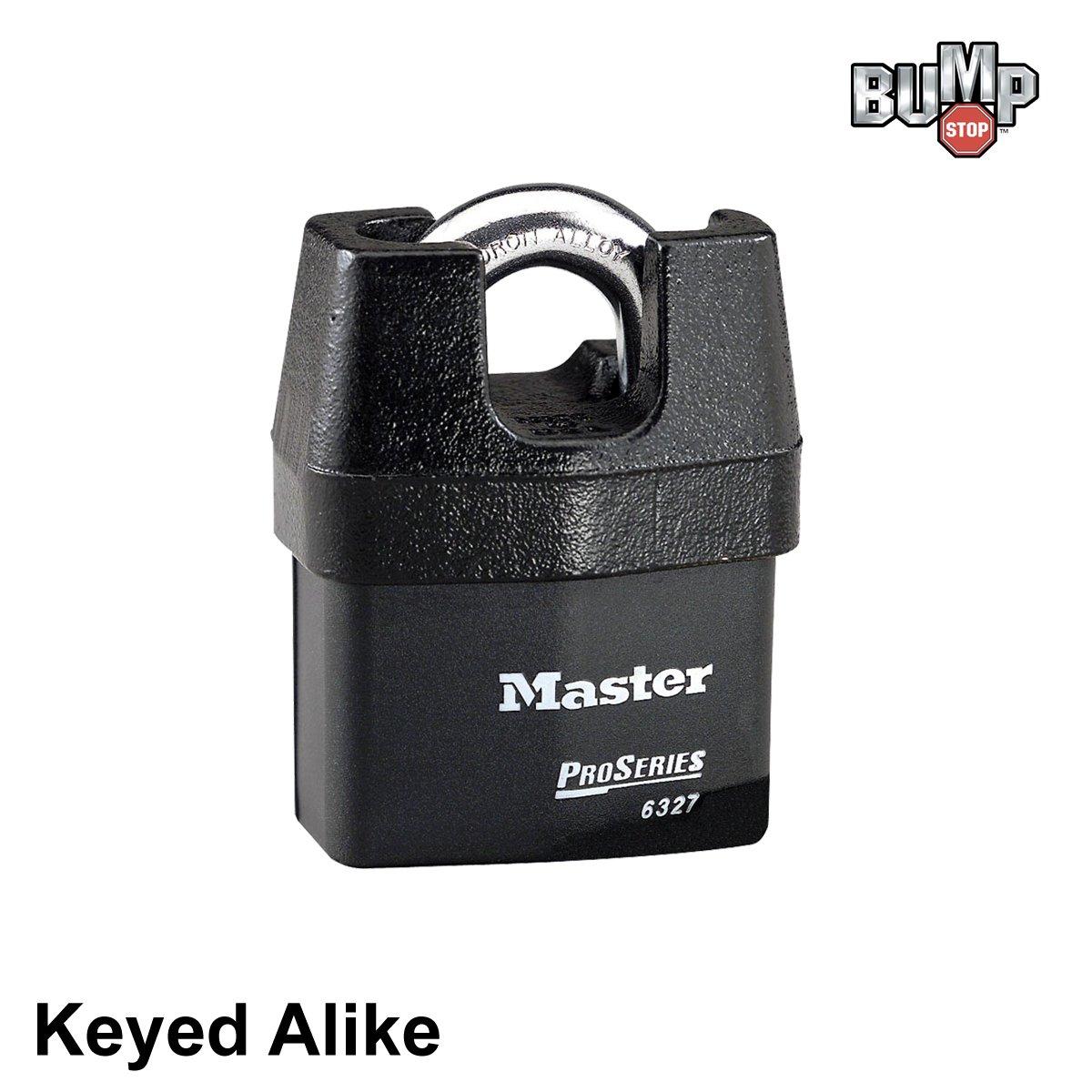 Master Lock Pro Series - High Security Keyed Alike Padlock 6327NKA - w/ BumpStop Technology