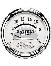amazon voltmeter gauges automotive Solar Car Battery Charger auto meter 880354 ford racing series electric voltmeter gauge