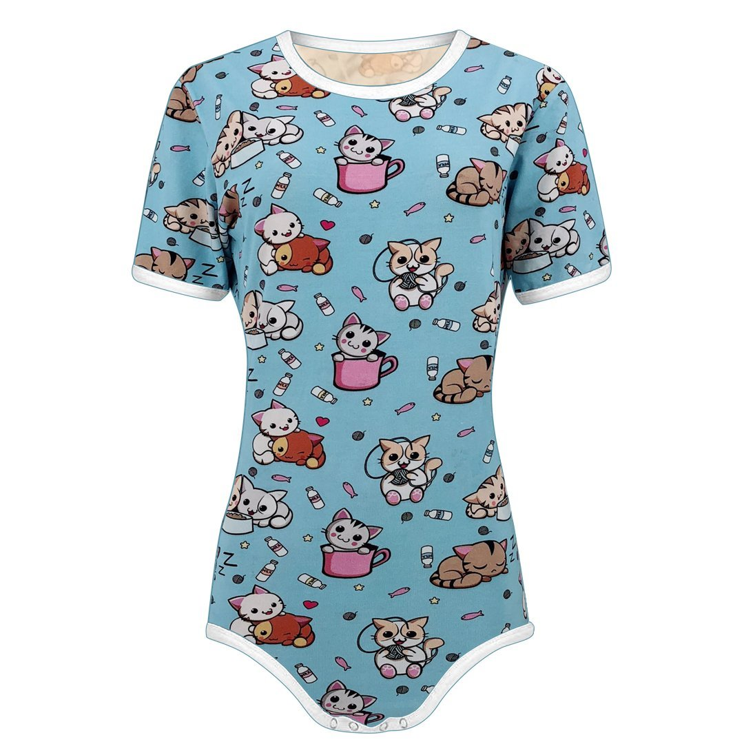 Amazon.com: The Littlest Gift Shop Adult Baby Little Kitten Snap Crotch  ABDL Onesie Romper: Clothing