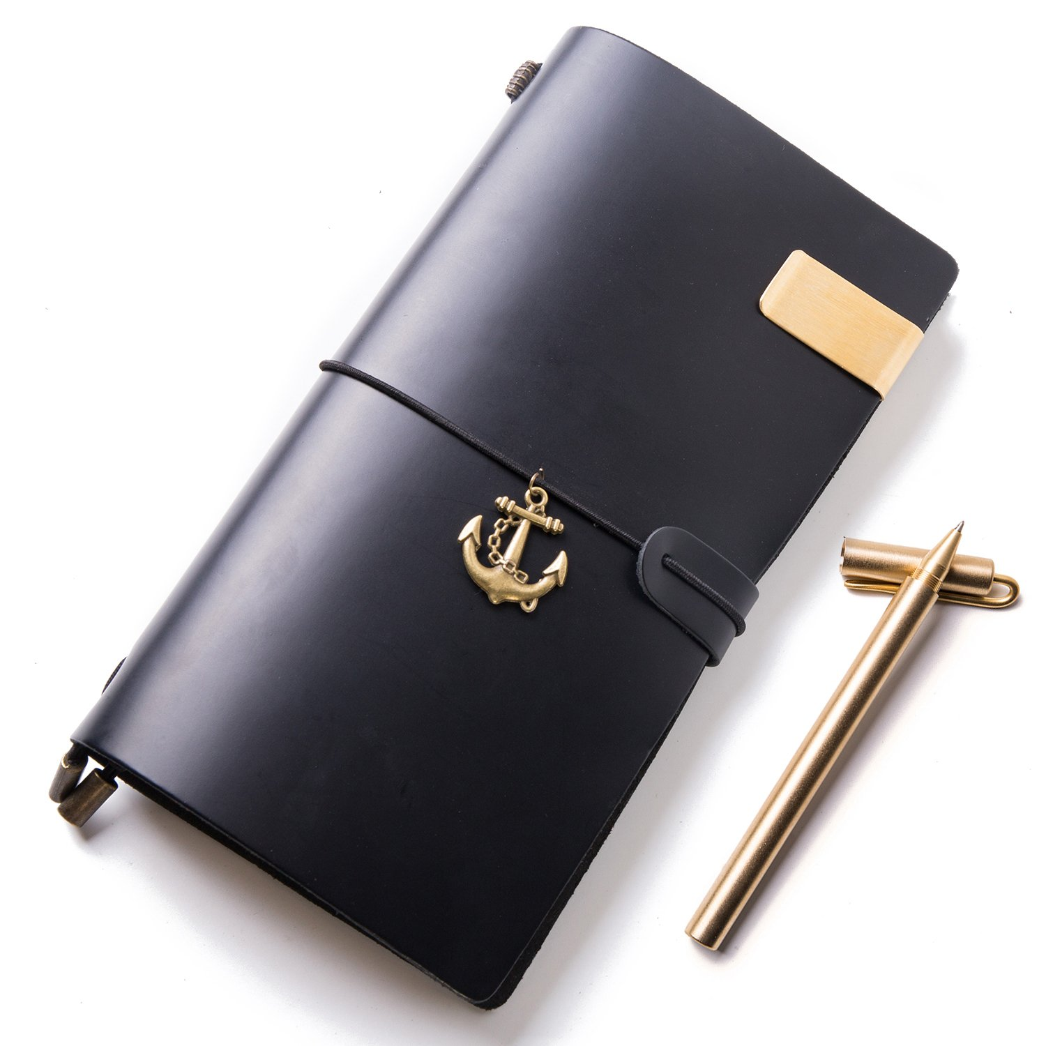 Leather Notebook, Travelers Journal, Leather Notebook, Antique Soft Leather,8.7W × 4.9L Inches 8.7W × 4.9L Inches IPBEN