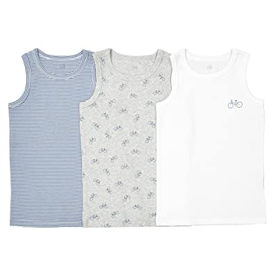 La Redoute Collections Big Boys Pack of 3 Sleeveless Vests, 2-12 Years