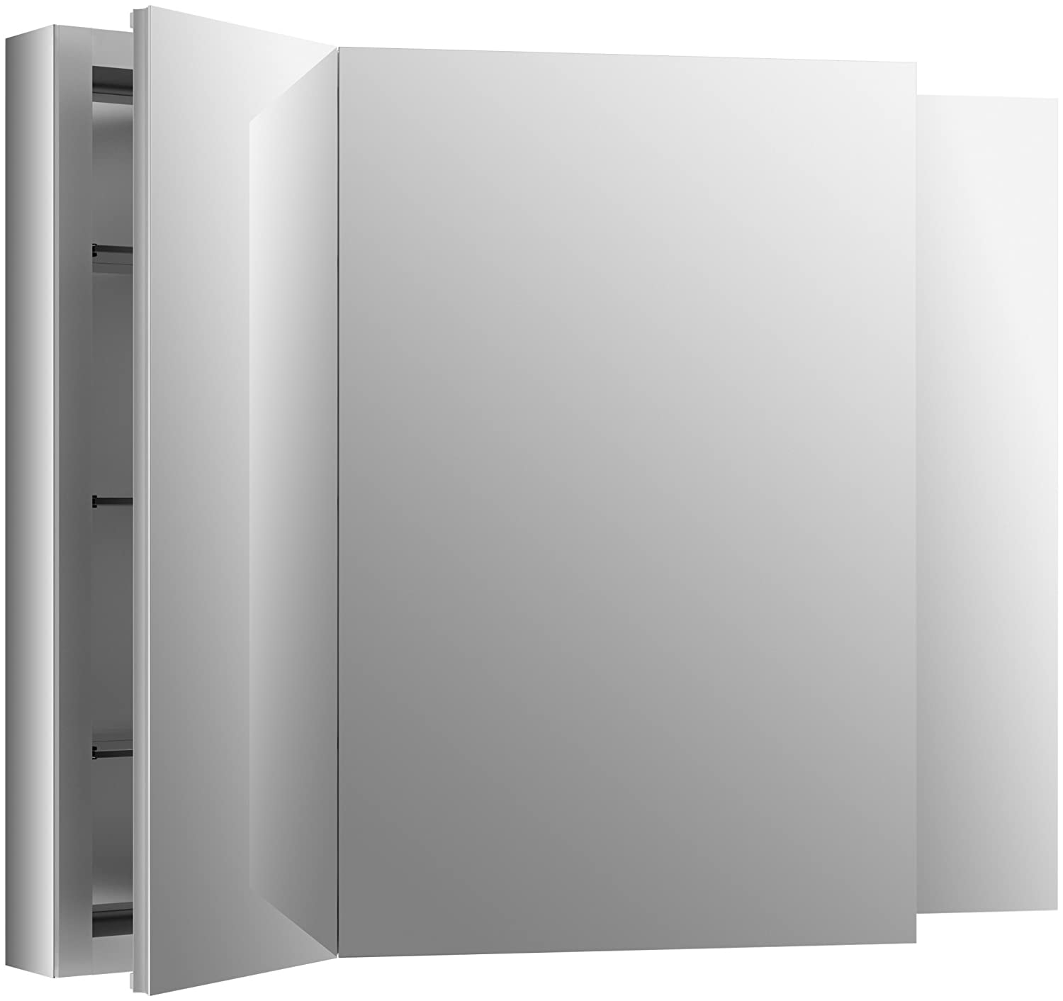 two features aluminum cabinet reveal sided double light with to this another medicine that glass lighted adjustable brilliant opens mirror bathroom shelves led door a behind pa mirrored