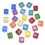 10pcs Multicolor Glass Cube Magnets - Perfect and