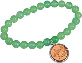 product image for Hummingbird One Cent Coin Aventurine Stretch Bracelet