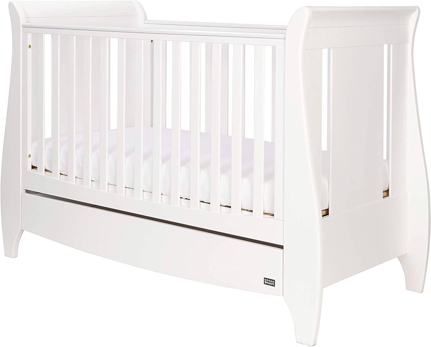 - Tutti Bambini Lucas Space Saver Sleigh Cot Bed With Under Bed