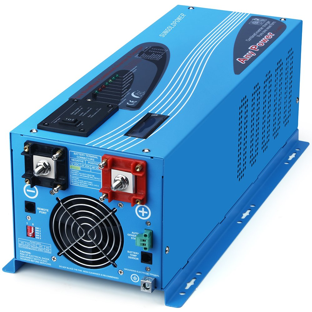 Sungoldpower 3000w Peak 9000w Pure Sine Wave Power Inverter Circuit 12vdc To 230vac Dc 12v Ac 110v With Battery Charger 90a Lcd Display Low Frequency Solar Converter