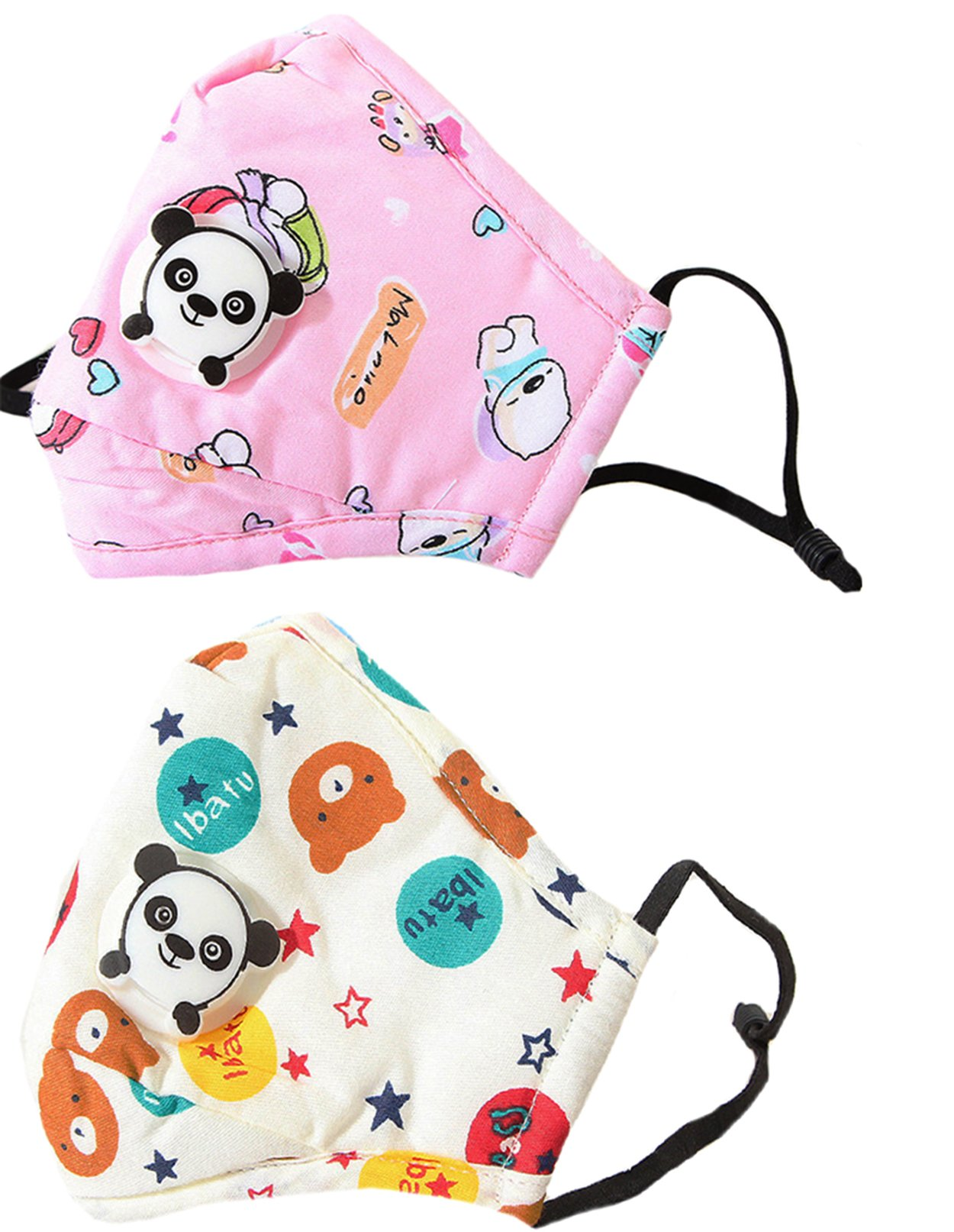 ZANLICE 2-Pack Kids PM2.5 Anti-Pollution Washable Mouth Masks with Filter(2masks+8filter