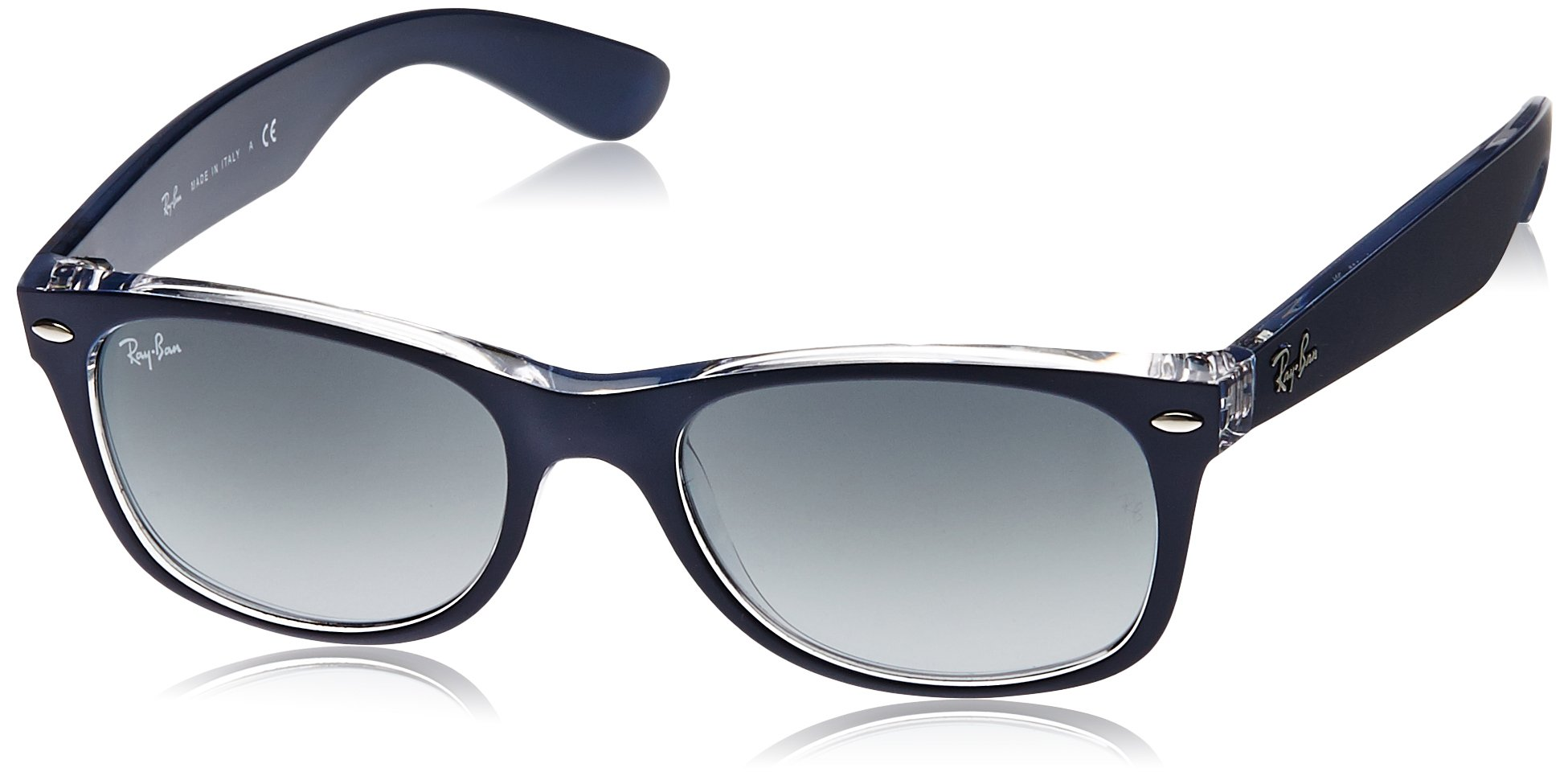 Ray-Ban New Wayfarer Classic, Top Matte Blue On Transparent by RAY-BAN