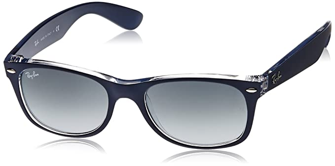 Ray-Ban Wayfarer Sunglasses (Matte Blue and Transparent ...