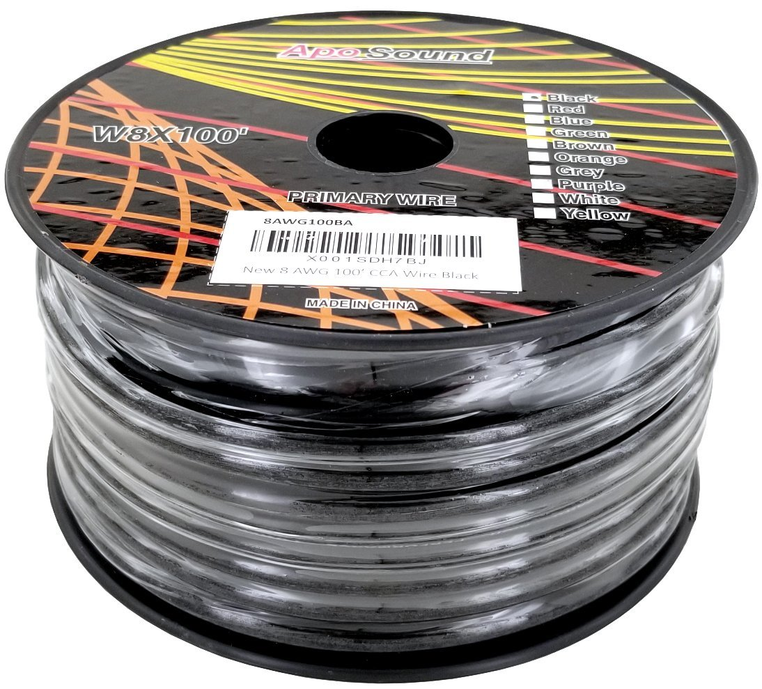 8 Awg American Wire Gauge Copper Clad Aluminum Power Ground Wiring Black White Blue Brown Available In 100ft Red 50ft Bonded Industrial