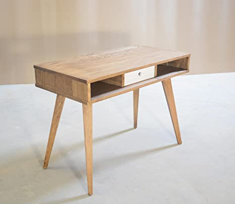 Tavolo di Scrivania di legno massiccio, Tavolo da ufficio, Console ...