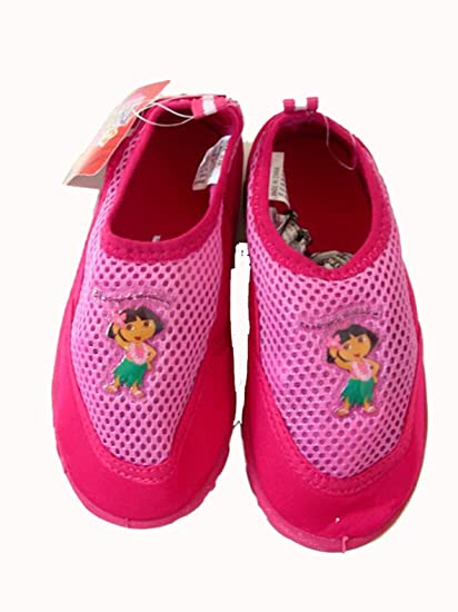 9cb976a3fd3f Amazon.com  Pink and Dark Pink Dora the Explorer Aqua Water Shoes (Size 13 1)   Toys   Games
