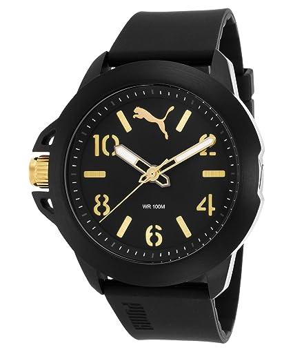 PUMA Time Reloj Analógico para Hombre de Cuarzo con Correa en Silicona PU104181001: Amazon.es: Relojes