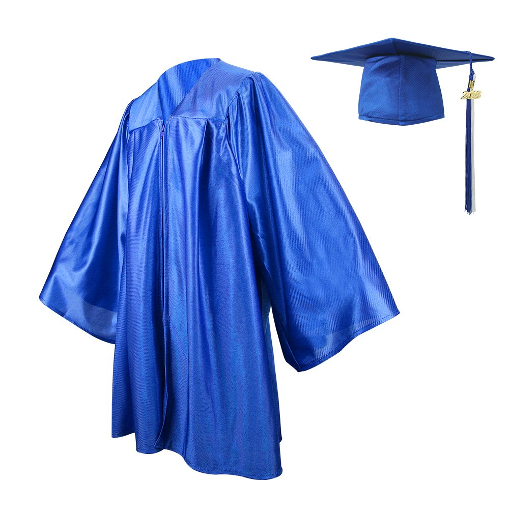 Kindergarten Graduation Gown Cap Set, Two-colored Tassel with 2017 ...