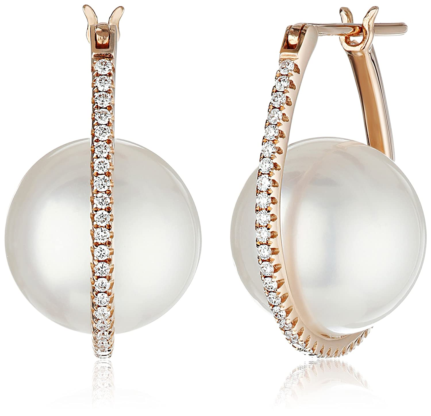 delfina kultia pearl delettrez earrings diamond with single star and earring