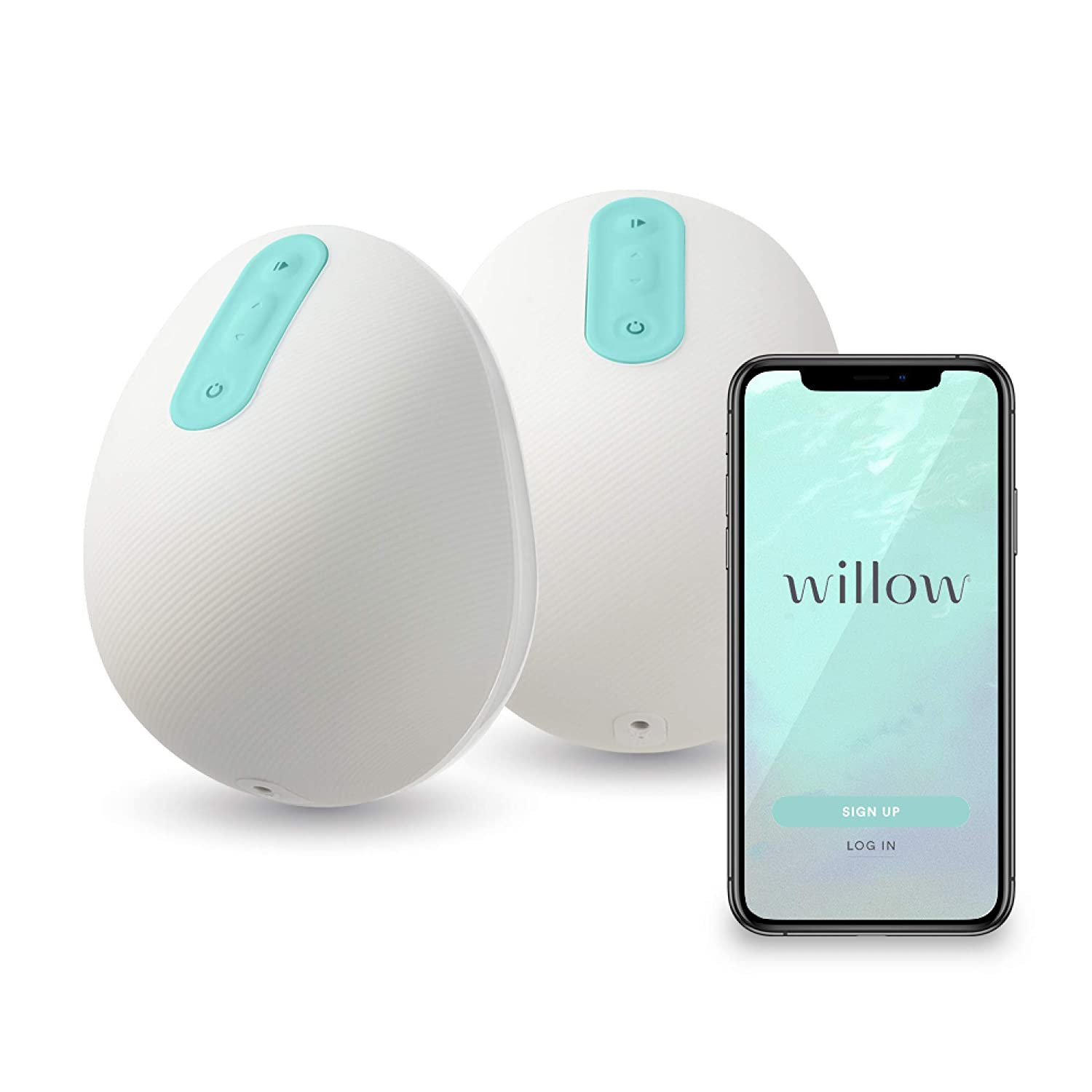 Willow Wearable Double Electric Breast Pump with App – The First and Only Spill-Proof Breast Pump That fits in Your Bra - Portable & Quiet (24mm)