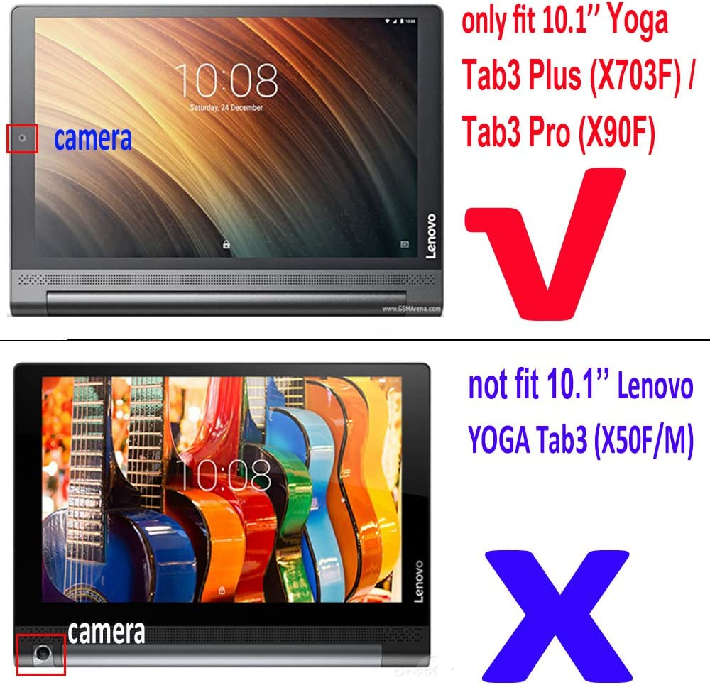 Amazon.com: Lenovo Yoga Tab 3 Plus Folio Funda, Lenovo Yoga ...