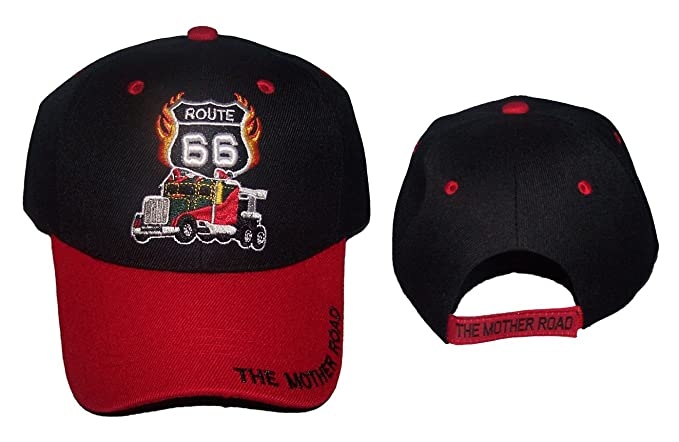 b0f26d7ff422a Image Unavailable. Image not available for. Color  Route US 66 Diesel Truck  The Mother Road Baseball Caps Hats ...