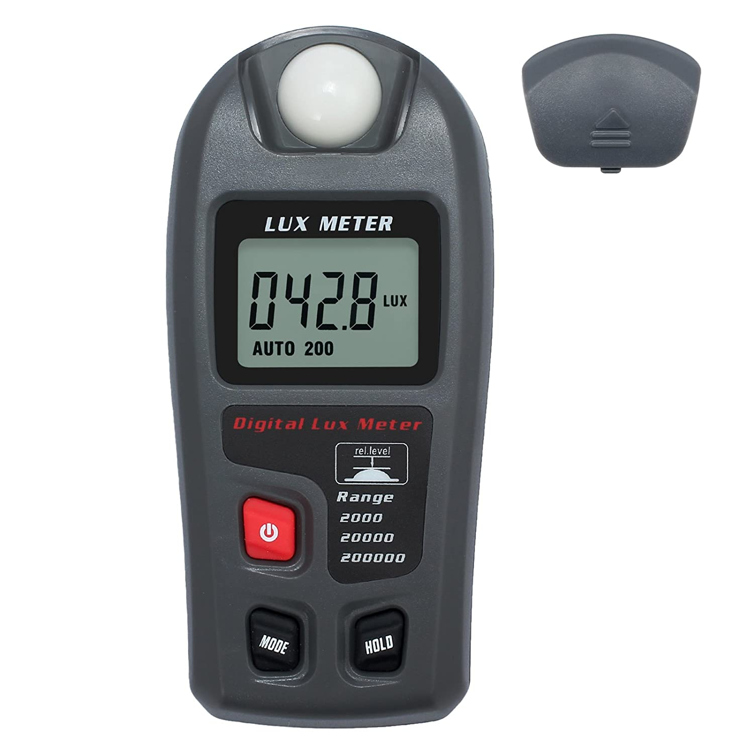 Kamtop Digital Light Meter High Accuracy Handheld Lux Meter with Battery Range at 200, 000LUX/ 20, 000FC Portable Luminometer Photometer with LCD Display Light Measurement for Photography Factory Warehouse Laboratory School Office TL240-KPT-UK