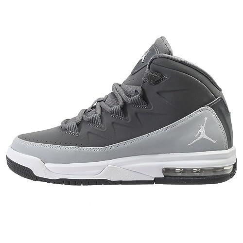 outlet store 42678 553a0 Jordan Air Deluxe BG Boy s Preschool Youth Shoes 807718-003 Dark Grey White  (5.5