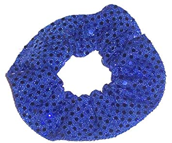 Hair Scrunchie Sequin Dots Fabric Scrunchies by Sherry Sparkle Dancers 25 Colors
