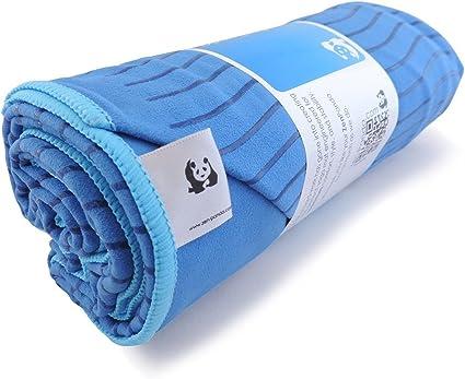 Zen Panda - Best Grippy Hot Yoga Towel with Eco Non Skid or Slip Technology for covering Bikram Mat